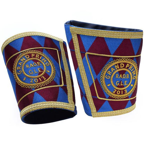 Masonic Gauntlets Cuffs - Embroidered - Regalialodge