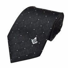 Load image into Gallery viewer, Superior Quality Masonic Tie with Square Compass & G Mason tie Black - Regalialodge