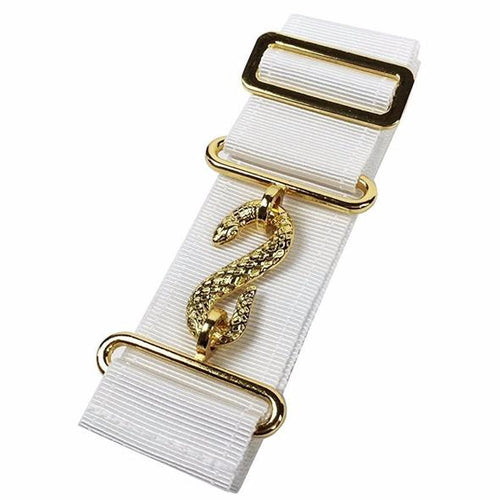 Masonic Belt Extender White - Regalialodge
