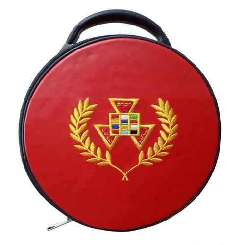Masonic Past High Priest PHP Wreath Hat/Cap Case Red - Regalialodge