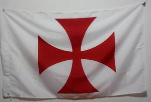 Cross Patée Knights Templar White Flag - Regalialodge