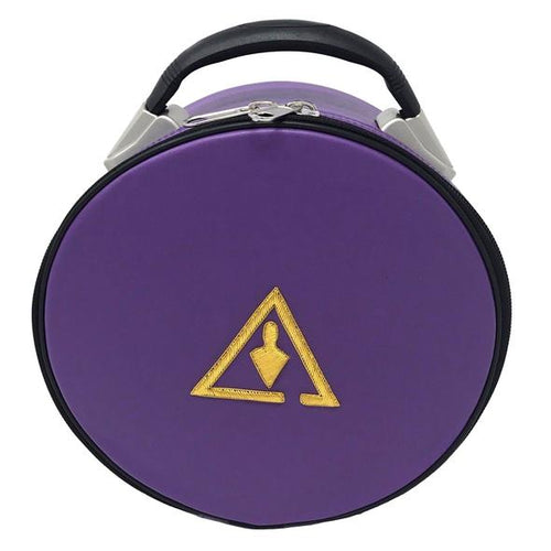 Royal & Select Cryptic Masonic Hat/Cap Case Purple - Regalialodge