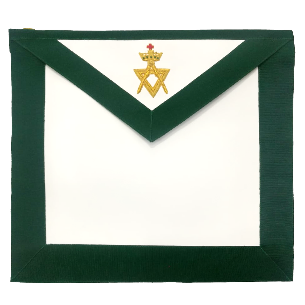 Allied Masonic Degree AMD Member Hand Embroidered Apron - Regalialodge