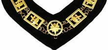 Load image into Gallery viewer, Knights Templar - Masonic Chain Collar - Gold/Silver on Black