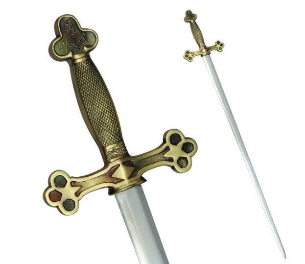 Masonic Ceremonial Sword Square Compass G + Free Case