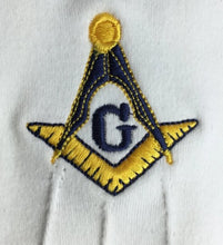 Load image into Gallery viewer, Masonic Gloves Yellow Square compass with G Machine Embroidery