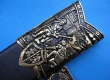 Load image into Gallery viewer, Mio Cid Anointed Knights Templar Golden Sword Scabbard Totem Engraving 49""