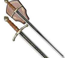 Load image into Gallery viewer, Knight Templar Encryption Chain Handle Sword W/ Wall Mount 44""