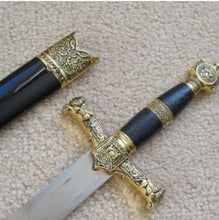 Load image into Gallery viewer, Ark of the Covenant King Solomon Sword Knife W/ Sheath 15.8""