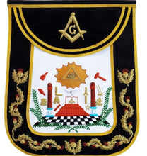 Load image into Gallery viewer, Masonic Traditional Master Mason Round Apron Bullion Hand Embroidered