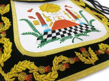 Load image into Gallery viewer, Masonic Traditional Past Master Round Apron Bullion Hand Embroidered