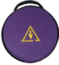 Load image into Gallery viewer, Royal & Select Cryptic Masonic Hat/Cap Case Purple