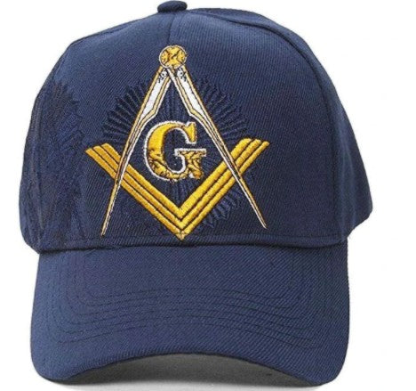 Embroidered Masonic Shadow Blue Baseball Cap