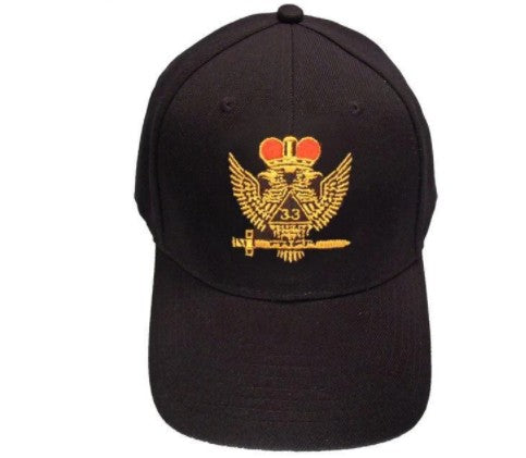 Scottish Rite Wings UP 33rd degree Masonic Baseball Cap