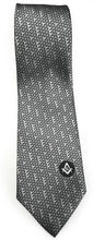 Load image into Gallery viewer, Masonic Regalia Black White Freemasons Tie