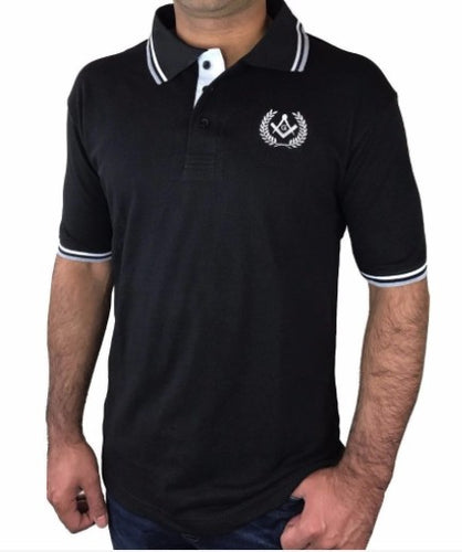 Polo Shirt with Square Compass & G Embroidery Logo