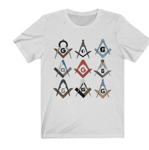 Square & Compass Symbols Masonic T-Shirt