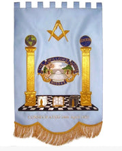 Load image into Gallery viewer, Gold Wire Handmade Embroidered Masonic Banners