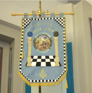 Machine Made Embroidery Masonic Banners
