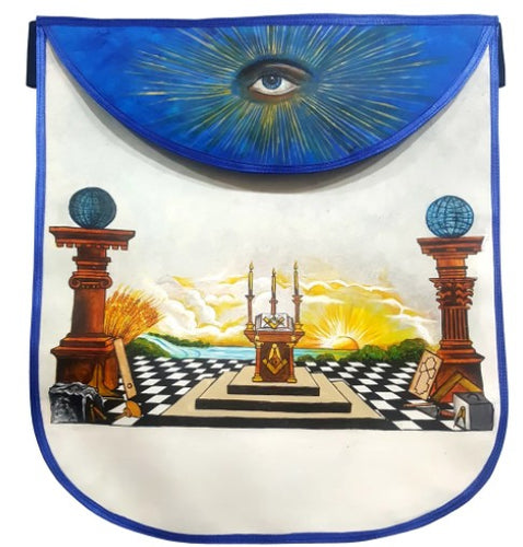 Custom Hand-Painted Scottish Rite Masonic Apron