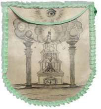 Load image into Gallery viewer, 19th Century Inspired Hand-Painted Apron