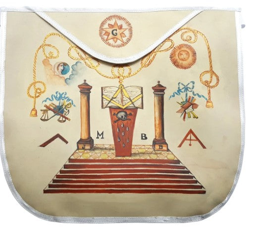 19th Century Inspired Hand-Painted Masonic Apron