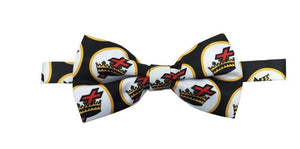 High Quality 100% Silk Masonic Knight Templar Bow Tie Black & White