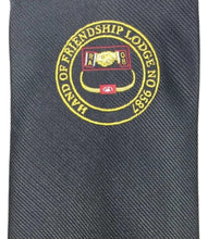 Load image into Gallery viewer, Masonic Tie with Lodge logo