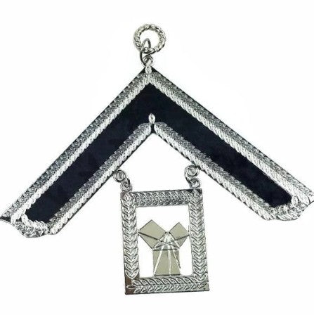 Masonic Craft Lodge Officer Collar Jewel Silver - Past Master