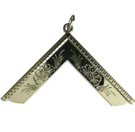 Masonic Craft Lodge Officer Silver Collar Jewel - Worshipful Master