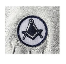 Load image into Gallery viewer, Masonic White Soft Leather Gloves With Square and compass