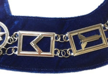 Load image into Gallery viewer, Blue Lodge Working Tools - Chain Collar - Gold/Silver on Blue + Free Case