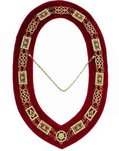 Load image into Gallery viewer, Grand Lodge - Chain Collar - GolGrand Lodge - Chain Collar - Gold/Silver on Red + Free Cased/Silver on Red + Free Case