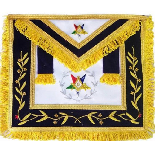 Hand Embroidered Masonic OES Worthy Patron Apron