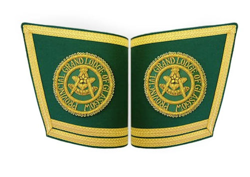 Masonic Gauntlets Cuffs - Embroidered With Double Braid