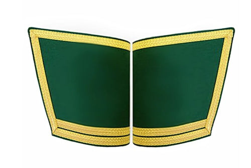 Masonic Gauntlets Cuffs - Plain With Double Braid