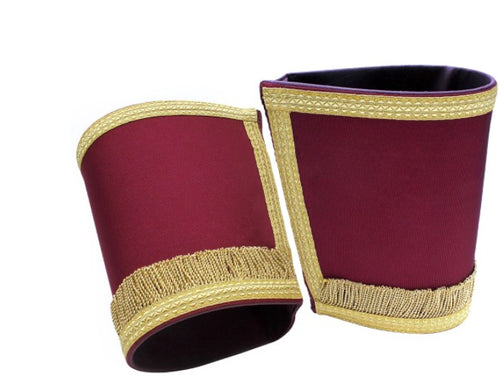 Masonic Gauntlets Cuffs - Plain With Fringe