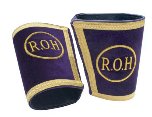 Masonic Gauntlets Cuffs - Embroidered