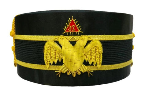 32nd Degree Wings Down Scottish Rite Double-Eagle Cap Bullion Hand Embroidery