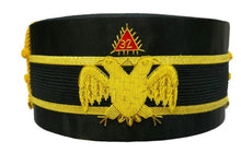 Load image into Gallery viewer, 32nd Degree Scottish Rite Double-Eagle Wings Down Cap Bullion Hand Embroidery