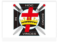 Load image into Gallery viewer, IN HOC SIGNO VINCES Knights Templar Masonic Flag