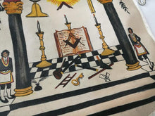 Load image into Gallery viewer, 18th Century Inspired Hand-Painted Masonic Lambskin Apron