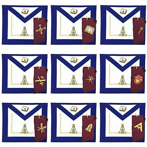 Masonic Regalia 14th Degree Officers Apron and Collar Set - Regalialodge