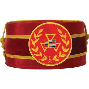 Royal Arch Grand Past High Priest PHP Wreath Cap Red - Regalialodge