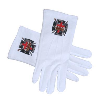 Knights of Templar Masonic Gloves - Regalialodge