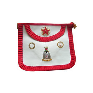 Leather Masonic apron – French Chapter – 4th Order - Regalialodge