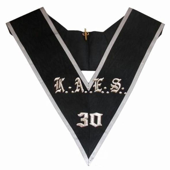 Masonic collar - AASR - 30th degree - KAES - Regalialodge