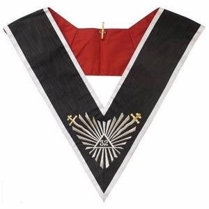 Masonic collar - AASR - 32rd degree - Great glory + glaives flamboyants - Regalialodge