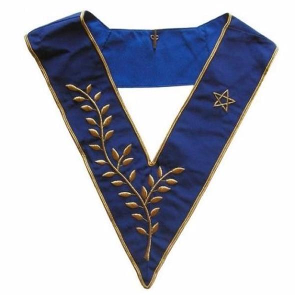 Masonic Officer's collar - AASR - Thrice Powerful Master - Hand embroidery - Regalialodge