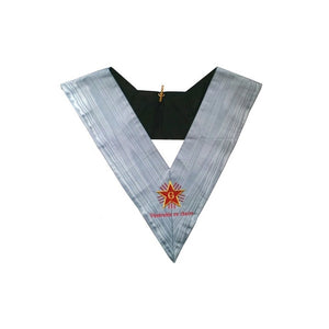 Masonic Officer's collar – French Traditional Rite – Worshipful Master with title – Mourning back – Machine embroidery - Regalialodge